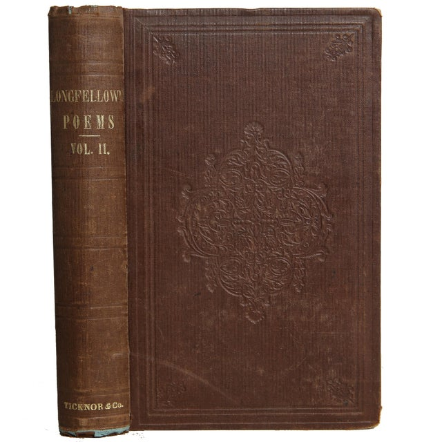 """Booth & Williams 1856 """"Poems Vol. Ii"""" Collectible Book For Sale - Image 4 of 4"""