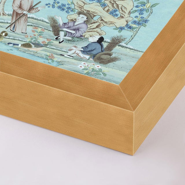 The Tea Garden by Paul Montgomery Image Size (WXH): 29.5x39 Mounting Style: Flush Frame Color: Gold Hanging Hardware:...