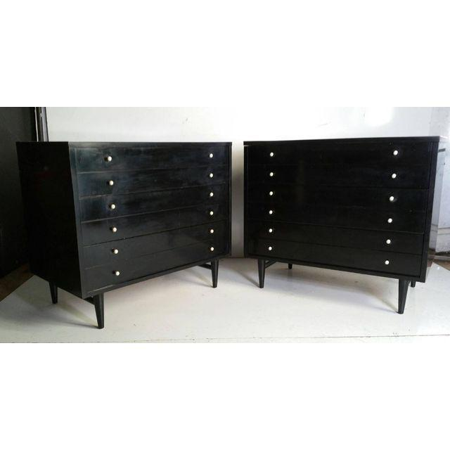 1950s American by Martinsville Black Chests - A Pair For Sale - Image 5 of 5