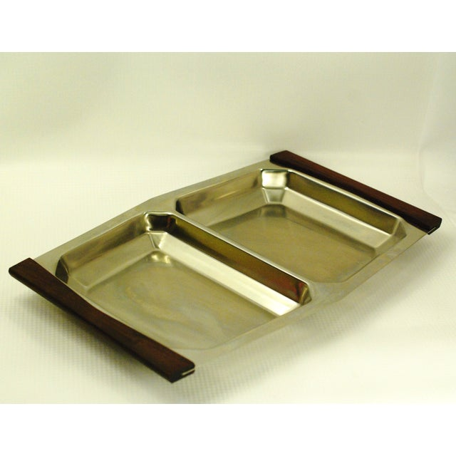 Stelton Mid-Century Modern Stelton Stainless Tray For Sale - Image 4 of 7