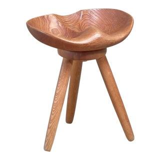 Sculptural Swedish Craft Stool For Sale