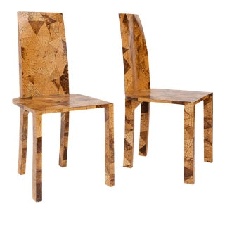 Pair of Mid-Century Veneered Side Chairs For Sale