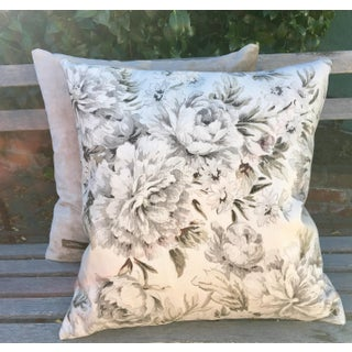 1980s Shabby Chic Peonies Pillows - a Pair Preview