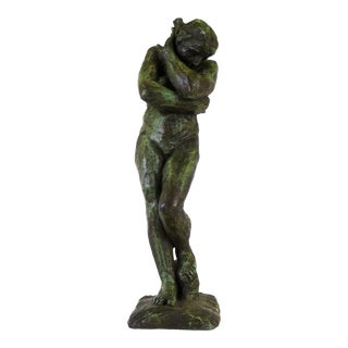Renoir's Classical Nude Eve Reproduction From 1962 in Verdigris Plaster by Austin Productions For Sale