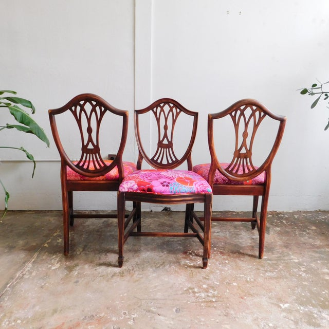 Mid-Century Modern 1950s Kaffe Print Dining Chairs - Set of 6 For Sale - Image 3 of 5