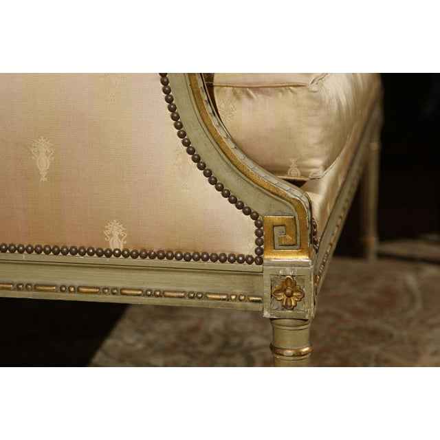 French Louis XVI Settee by Maison Jansen For Sale - Image 7 of 10