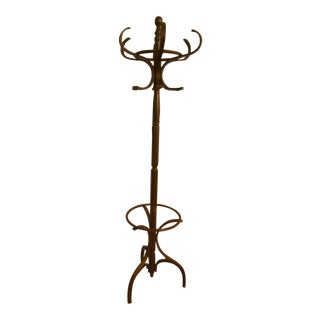 Mid-20th Century Bentwood Coat Stand or Hat Rack Made in the Style of Michael Thonet For Sale