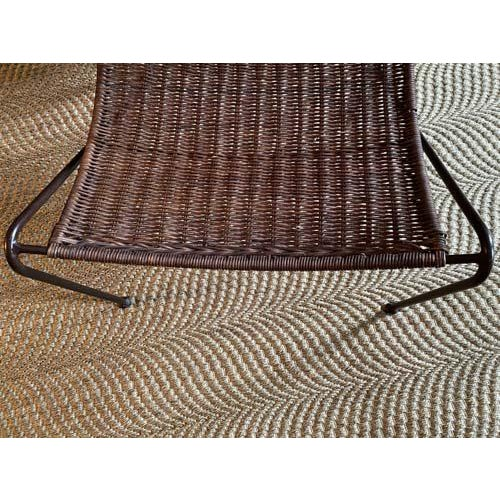 Brown Scoop Form Rattan Lounge Chairs in the Manner of Frederick Weinberg - a Pair For Sale - Image 8 of 10