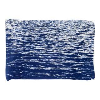 Blue Waves Seascape Cyanotype Print
