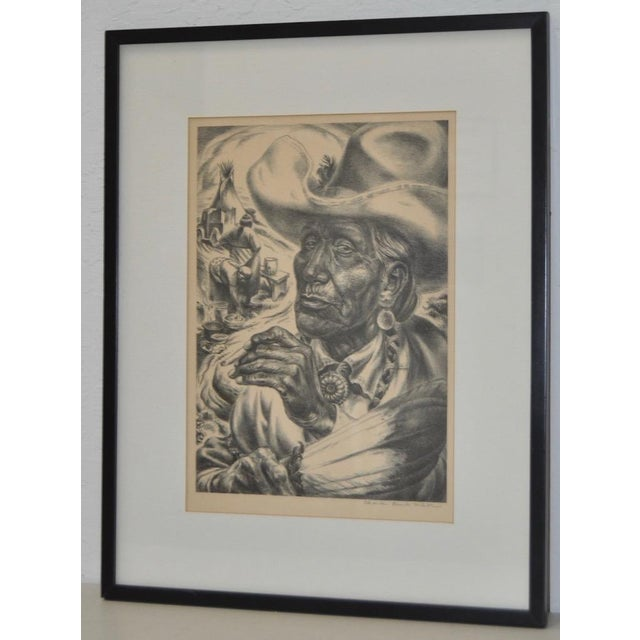 "Illustration Charles Banks Wilson ""Old Injun"" Pencil Signed Lithograph c.1948 For Sale - Image 3 of 7"