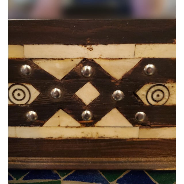 """Large size metal inlay Moroccan mirror. Made in the city of Marrakech. Rectangular shape, measuring approximately 40"""" x..."""