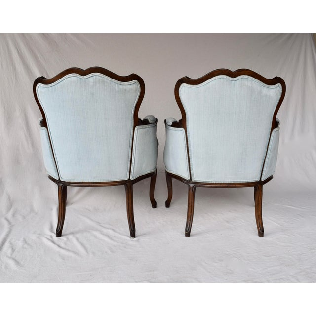 Pair of French Provincial Berger'e Chairs For Sale - Image 11 of 12