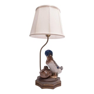Porcelain Rosenthal Duck Figurine Mounted as Lamp For Sale