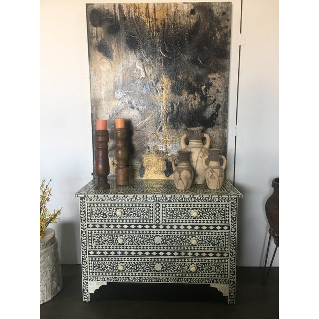 Moroccan Inspired Bone Inlay Dresser For Sale In Los Angeles - Image 6 of 7