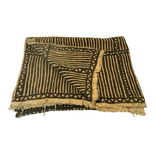 1980s African Mudcloth Throw For Sale