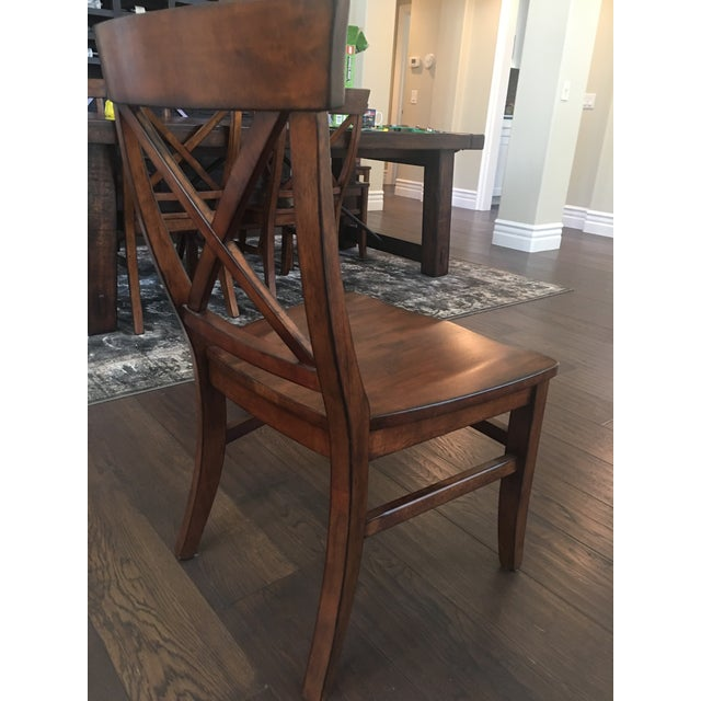 Brown Aaron Wood Seat Chairs - Set of 8 For Sale - Image 8 of 8