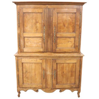 19th Century French Oak Wood Sideboard or Buffet, 1850s For Sale