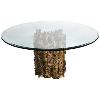 Silas Seandel Mid-Century Modern Brutalist Cathedral Series Dining Table For Sale