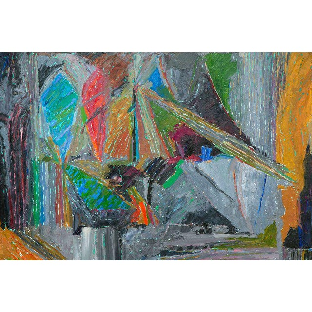 Abstract Oil on Canvas Abstract by John McNamara, American For Sale - Image 3 of 8