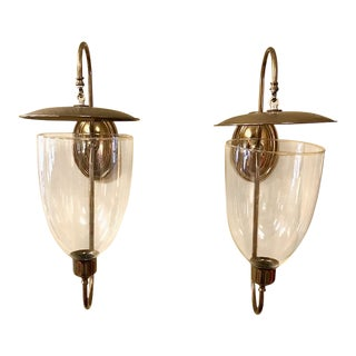 Pair, Vintage Brass Wall Candle Sconces For Sale
