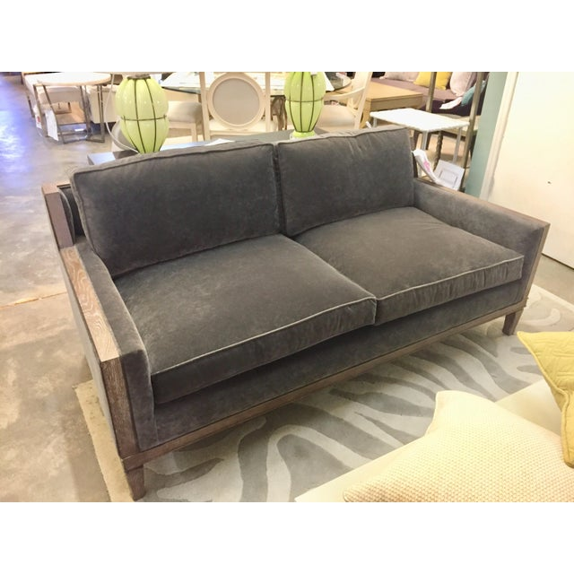 2010s Modern Century Furniture Gray Sofa For Sale - Image 5 of 5