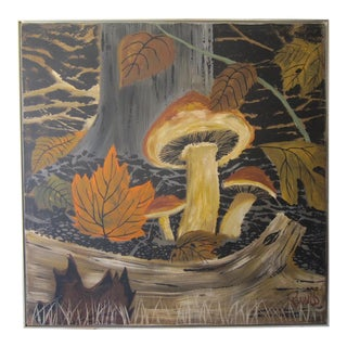 Large Lee Reynolds Mushrooms Painting For Sale