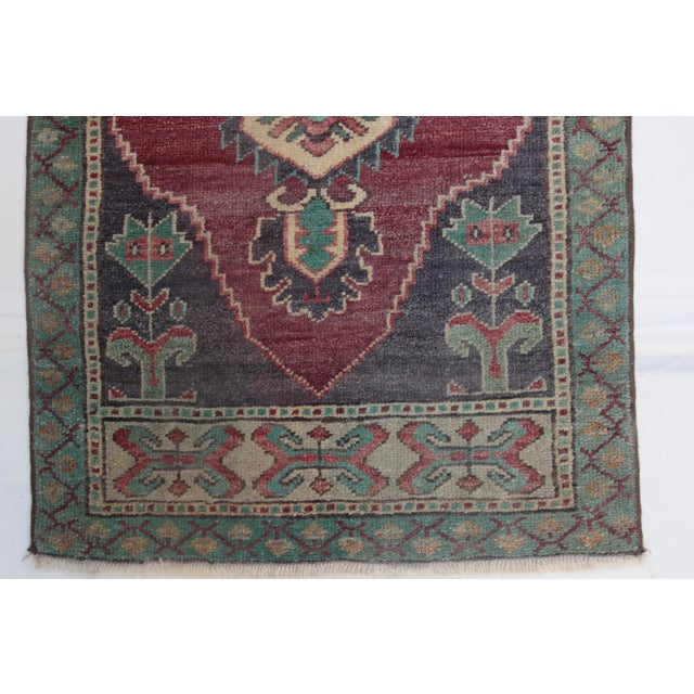 1960s Vintage Turkish Handmade Rug - 1′8″ × 3′1″ For Sale In Baltimore - Image 6 of 11