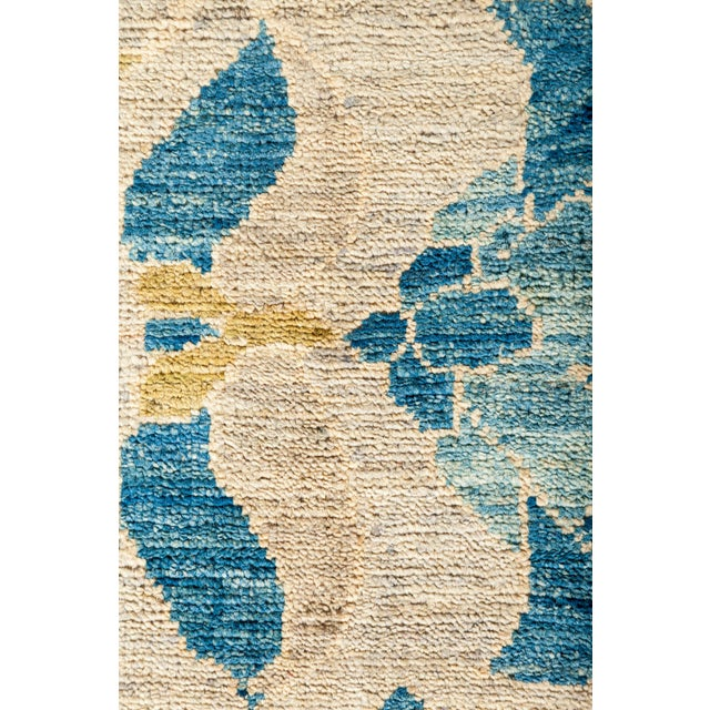 "Contemporary Suzani Hand Knotted Area Rug - 10'2"" X 14'2"" For Sale - Image 3 of 4"