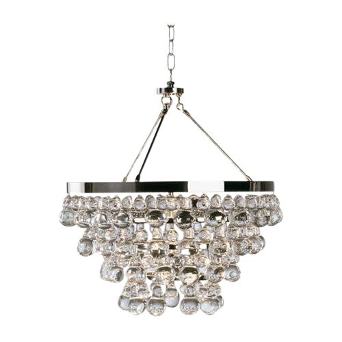 """Robert Abbey Polished Nickel """"Bling"""" Chandelier - Image 1 of 2"""