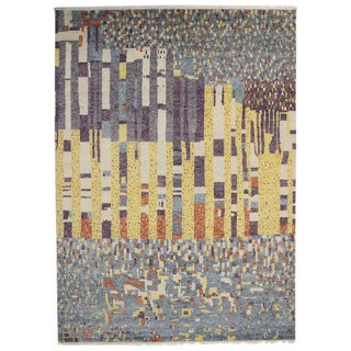 Moroccan Style Rug With Modern Bauhaus Design - 09'10 X 13'09 For Sale