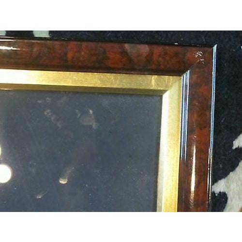 Mid 20th Century Asian Glass Reverse Painting of Geisha For Sale - Image 4 of 6