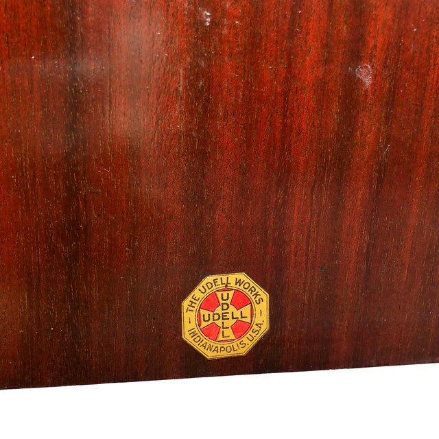 Brown Antique Mahogany Empire Sheet Music Vinyl Record Cabinet by Udell Works For Sale - Image 8 of 12