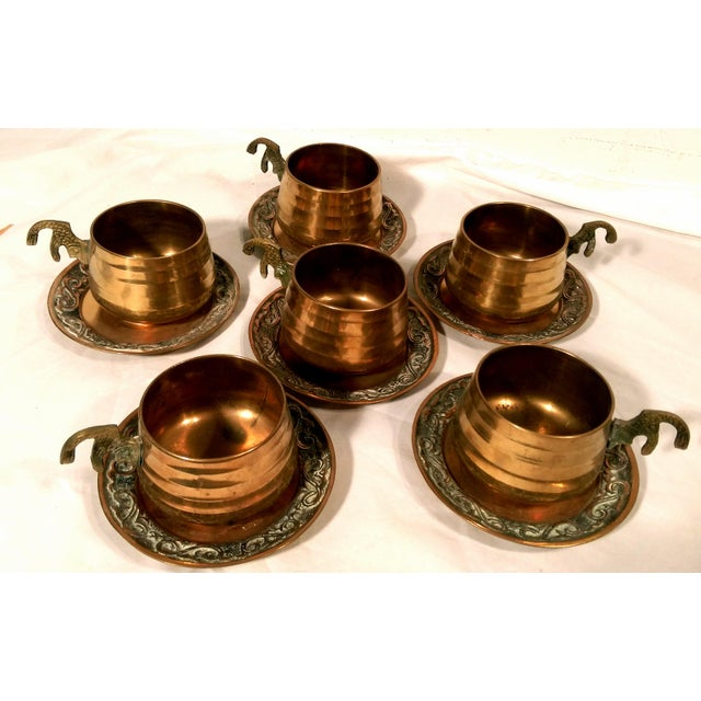 Brass Sea Tail Tea Set- Service for 6 - Image 4 of 9