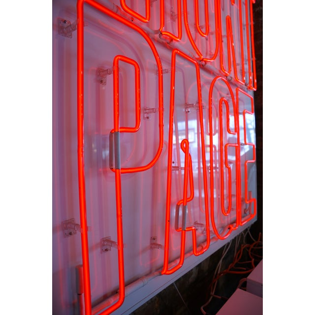 "1980s Neon Sign ""The Front Page"" For Sale - Image 5 of 6"