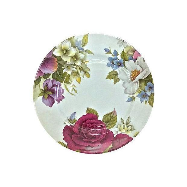Vintage Porcelain Limoges Floral Plates - Set of 6 For Sale In Atlanta - Image 6 of 7