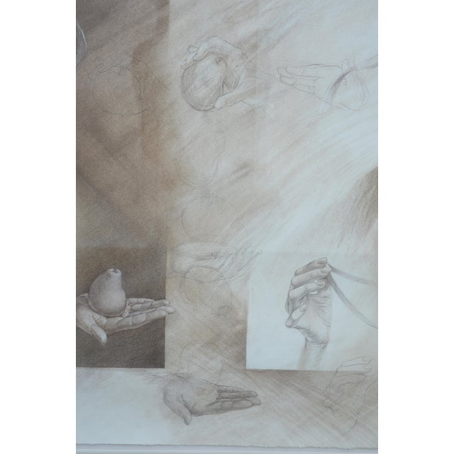 Set of Two Pencil and Charcoal Portraits For Sale - Image 10 of 11