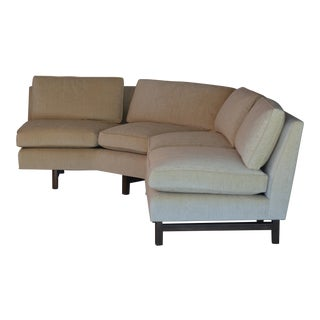 Impeccable Reupholstered Dunbar Sectional Sofa by Edward Wormley For Sale