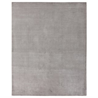 """Raven Hand loom Wool/Viscose Gray/White Rug-9'x12"""" For Sale"""