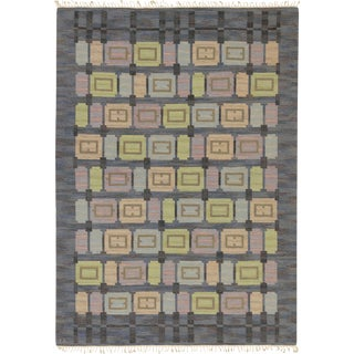 """Mid 20th Century Swedish Flat Weave Rug by Judith Johansson - 8'3"""" X 11'7"""" For Sale"""