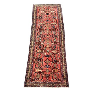 Vintage Persian Hamadan Runner - 3′5″ × 9′8″ For Sale