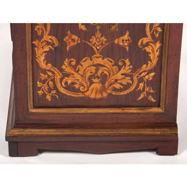 Italian Baroque Walnut and Gilded Commodini For Sale - Image 4 of 10