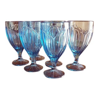Lenox Twilight Blossom Pattern Goblets - Set of 6