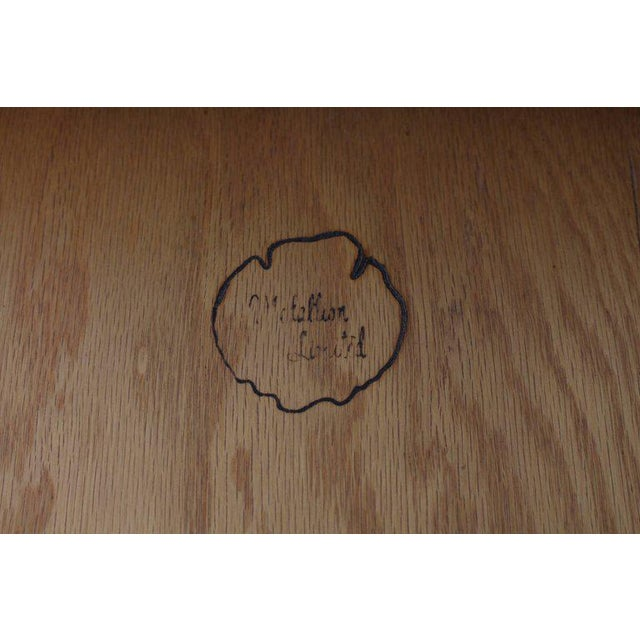Pair of Travertine Tops One Drawer Oiled Walnut End Side Tables For Sale - Image 4 of 13
