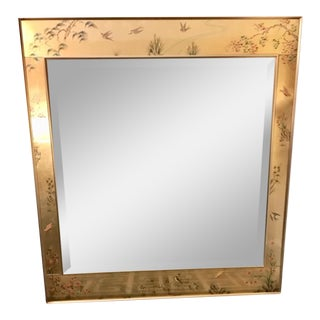 La Barge Vintage Hand Painted Chinoiserie Mirror For Sale