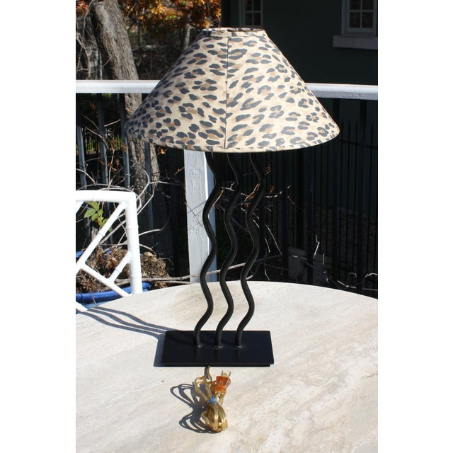 Contemporary 1980s Wave Memphis Style Table Lamp For Sale - Image 3 of 12
