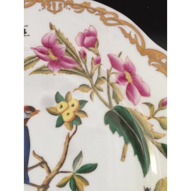 1970s Chelsea House Original Hand-Painted Gold Rimmed Plates - a Pair For Sale - Image 5 of 6