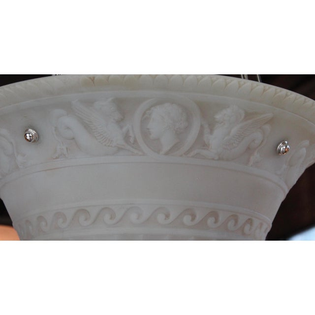 Early 20th Century Antique Classical Glass Bowl Fixture For Sale - Image 5 of 10