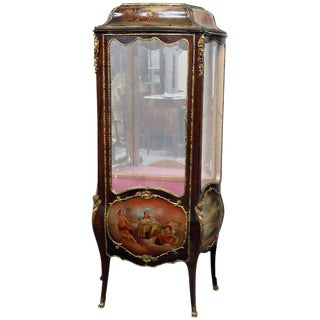 Louis XV Style Bronze Mounted Vitrine For Sale