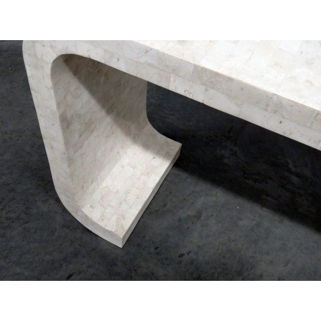 Mid-Century Modern Mid-Century Modern Tessellated Console Table For Sale - Image 3 of 10