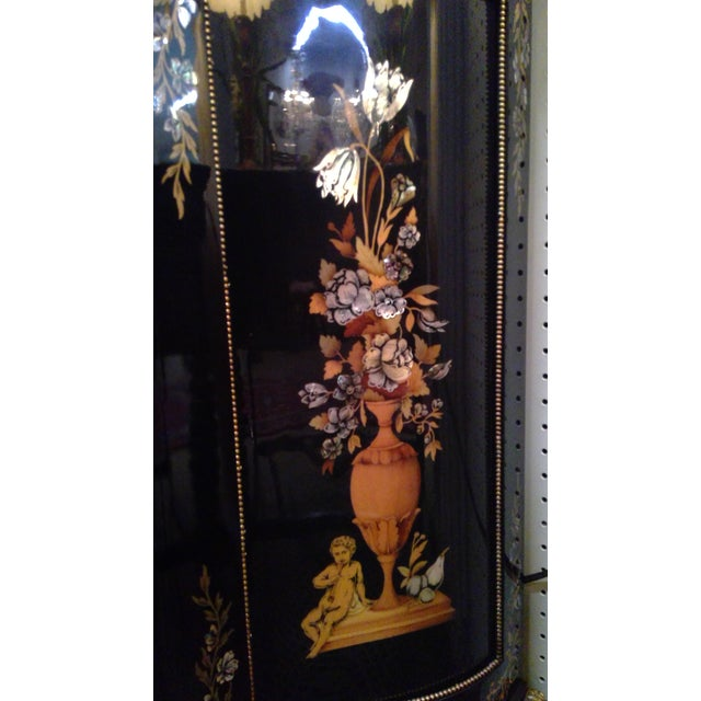 Empire 20th Century Italian Ebonized Mother of Pearl Cabinet For Sale - Image 3 of 11